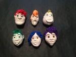 LGBTQueerstory main cast final head mock-ups. (TL-BR: Garon, Sydney, Quentin, Bombala, Trace, Lysa)