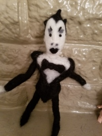 1st Attempt at Needle Felting: Klaus Nomi